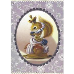 ansichtkaart gwenaëlle trolez - eekhoorn op gebakje