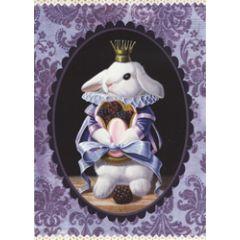 ansichtkaart gwenaëlle trolez - konijn met bramen
