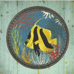 vierkante ansichtkaart gwenaëlle trolez - vis
