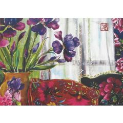 ansichtkaart gwenaëlle trolez - bloemen