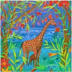 ansichtkaart met envelop gwenaëlle trolez - giraffe