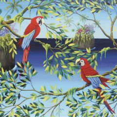 ansichtkaart met envelop gwenaëlle trollez - papegaaien