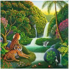 ansichtkaart met envelop gwenaëlle trolez - tijgers