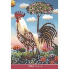 8 ansichtkaarten gwenaëlle trolez - kippen en haan van marie amalia