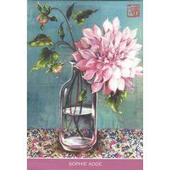 8 ansichtkaarten gwenaëlle trollez - bloemen van sophie adde
