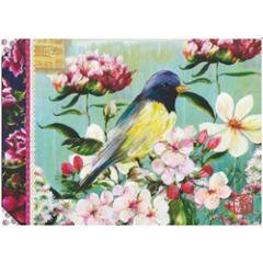 schriftje notitieboekje gwenaëlle trollez - vogel en bloemen van sophie adde
