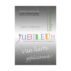 grote felicitatiekaart A4 - jubileum jubilaris jubileren - grijs