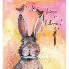 verjaardagskaart alex clark - happy birthday - konijn