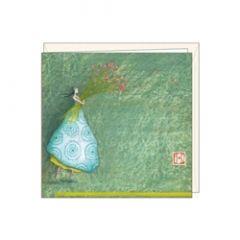 cadeaukaartje of bloemenkaartje gaëlle boissonnard - meisje met bloemen