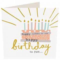 wenskaart caroline gardner - happy birthday to you - taart