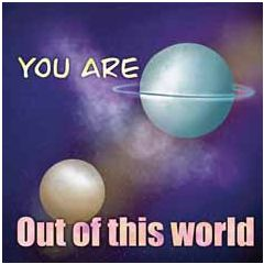 wenskaart claudia muller - you are out of this world | muller wenskaarten
