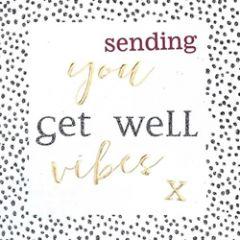 beterschapskaart caroline gardner - hip hip - sending you get well vibes x