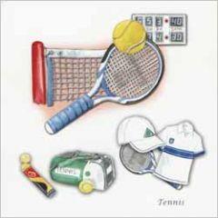 wenskaart - tennis