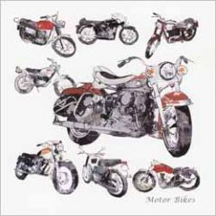 wenskaart - motor bikes
