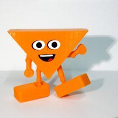 hophew wenst nederland succes - oranje poppetje van bioplastic en 3d-kaart ineen