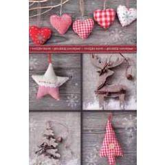 8 kerstkaarten - vrolijke kerst  gelukkig nieuwjaar  - hartjes