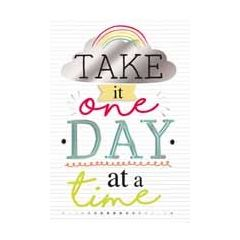 wenskaart hello you - take it one day at a time