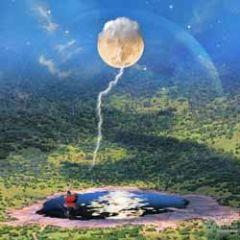 vierkante ansichtkaart met envelop - maïlo - maan