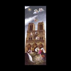grote kaart 1/2 A4 marie-anne foucart - notre dame in parijs