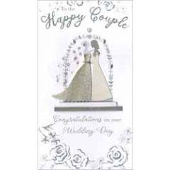 grote luxe trouwkaart - to the happy couple - 2 vrouwen
