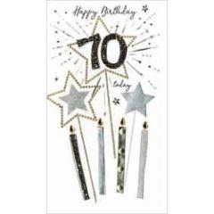 70 jaar - grote luxe verjaardagskaart - 70 today happy birthday