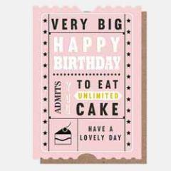 verjaardagskaart caroline gardner - happy birthday - unlimited cake