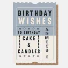 verjaardagskaart caroline gardner - birthday wishes - ticket