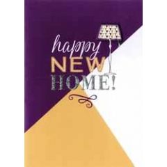 wenskaart nieuwe woning - happy new home! - schemerlamp