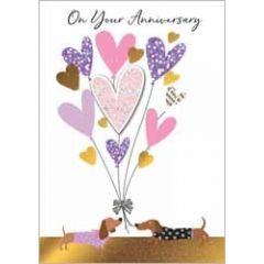 wenskaart ...jaar getrouwd - on your anniversary