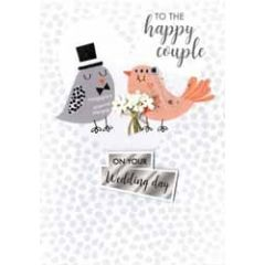 trouwkaart - to the happy couple on your wedding day