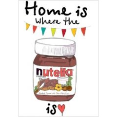 wenskaart mouse & pen - home is where the nutella is