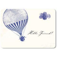 ansichtkaart susi winter - hello friend - luchtballon