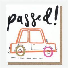 rijbewijs gehaald - wenskaart caroline gardner - passed! - auto | muller wenskaarten