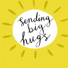 wenskaart caroline gardner - sending big hugs