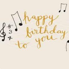 verjaardagskaart caroline gardner - happy birthday to you - muzieknoten