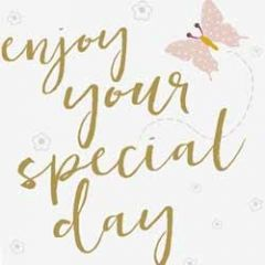 grote wenskaart caroline gardner -  enjoy your special day