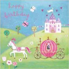 wenskaart clare maddicott - happy birthday - kasteel