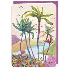 wenskaart correspondances - palmbomen