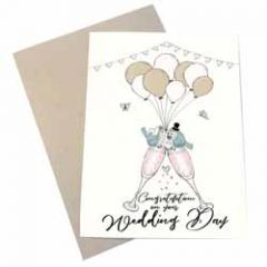 trouwkaart mouse & pen - congratulations on your wedding day