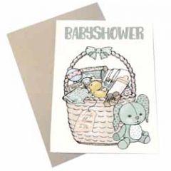 zwangerschapskaart mouse & pen - babyshower