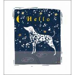 wenskaart the proper mail company - hello - hond met stippen