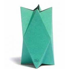 vierkante wenskaart te vouwen tot vaas - groen