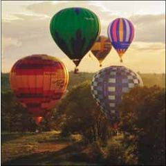 verjaardagskaart woodmansterne - luchtballonnen