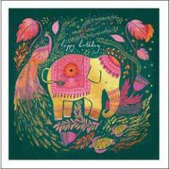 verjaardagskaart woodmansterne - happy birthday - olifant