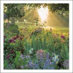 wenskaart woodmansterne - tuin in de zomer