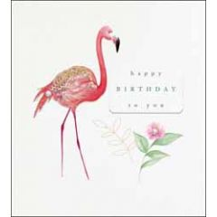 wenskaart the proper mail company - happy birthday to you - flamingo