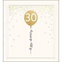 30 jaar - verjaardagskaart the proper mail company - 30 happy birthday - ballon