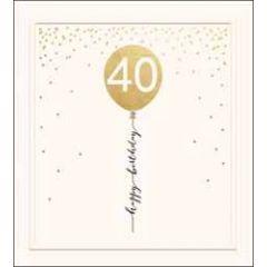 40 jaar - verjaardagskaart the proper mail company - 40 happy birthday - ballon