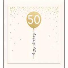 50 jaar - verjaardagskaart the proper mail company - 50 happy birthday - ballon