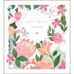 beterschapskaart the proper mail company - get well soon - bloemen